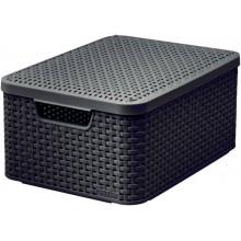 CURVER STYLE M úložný box s víkem 39,3 x 29,3 x 18,7 cm hnědý 03618-210
