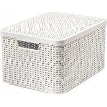 CURVER STYLE L úložný box s víkem 44,5 x 24,8 x 33 cm krémový 03619-885