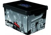 CURVER PARIS L box úložný dekorativní 39,5 x 29,5 x 24 cm 04711-P35