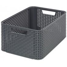 CURVER úložný box RATTAN Style2 M, 38,6 x 17,2 x 28,7 cm, antracit, 03615-308