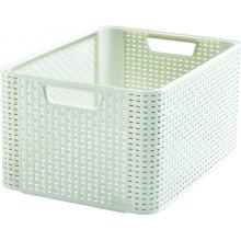CURVER STYLE M úložný box 38,6 x 17,2 x 28,7 cm krémový 03615-885