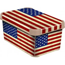 CURVER AMERICAN S box úložný dekorativní 29,5 x 19,5 x 13 cm 04710-A33