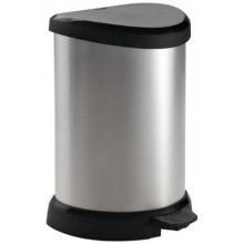 CURVER Odpadkový koš DECOBIN Pedal, 44,8 x 30,8 x 28,1 cm, 20 l, stříbrný 02120-582