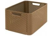 CURVER úložný box RATTAN Style2 L dark, 43,6 x 22,8 x 32,6 cm, mocha, 03616-213