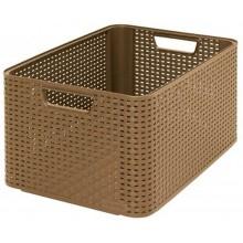 CURVER úložný box RATTAN Style2 L dark, 43,6 x 22,8 x 32,6 cm, mocca, 03616-213