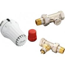 Danfoss Set - termostatická hlavice RAE 5054, přímé šroubení RLV-S a ventil RA-N 013G5174
