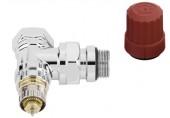 """Danfoss RA-NCX15 ventil radiátorový rohový s přednastavením, chrom 1/2"""" 013G4247"""