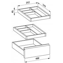 LAUFEN IL BAGNO ALESSI ONE Dělící systém do zásuvek koupelnového nábytku Laufen 4.9240.2