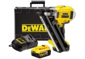 DeWALT Aku 18V bezuhlíková dvourychlostní hřebíkovačka 90mm 5,0Ah DCN692P2