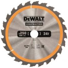 DeWALT DT1956 Pilový kotouč CONSTRUCTION 250 x 30 mm, 24 zubů