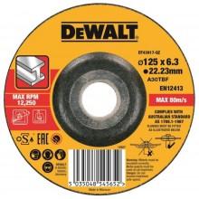 DeWALT Brusný kotouč na kov 125 x 22.2 x 6.0mm, Typ 27 DT43917