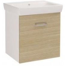 DŘEVOJAS Q MONO 600 skříňka s umyvadlem Q 600, bílá/dub 60674