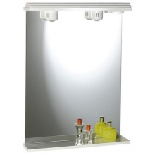 SAPHO EKOSET zrcadlo s osvětlením 50x75x18 cm bílá 57054