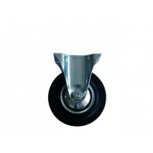 ERBA Kolo gumové černé pevná vidlice 85 mm/60 kg ER-33100