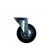 ERBA Kolo gumové černé otočné motážní ploška 85 mm / 60 kg ER-33107
