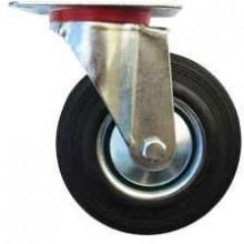 ERBA Kolo gumové černé otočné motážní ploška 125 mm / 110 kg ER-33109