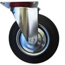 ERBA Kolo gumové černé otočné motážní ploška 200 mm/230 kg ER-33111