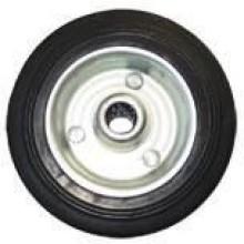 ERBA Kolo gumové černé 100 mm / 12,5 mm / 80 kg ER-33141