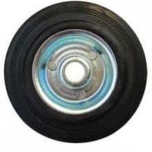 ERBA Kolo gumové černé 125 mm / 15,5 mm / 110 kg ER-33142