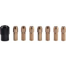 EXTOL CRAFT kleštiny, sada 8ks, Ř1-1,6-2-2,3-3-2x3,2mm, hlavice M8x0,75 404191
