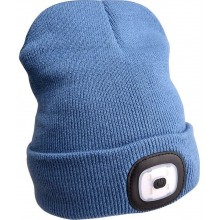 EXTOL LIGHT čepice s čelovkou, nabíjecí, USB, modrá, univerzální velikost 43191