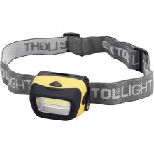EXTOL LIGHT 3W COB LED čelovka širokoúhlá 90 lm 43105