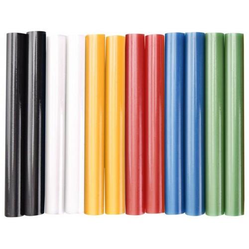EXTOL CRAFT tyčinky tavné 11x100mm 12ks mix barev 9909