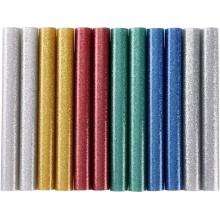 EXTOL CRAFT tyčinky tavné 11x100mm 12ks mix barev se třpytem 9911