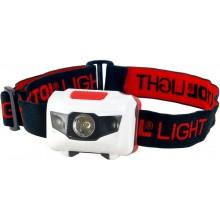 EXTOL LIGHT čelovka 40lm, 1W + 2 červené LED, ABS plast 43102