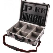 EXTOL CRAFT kufr na nářadí hlíníkový, 450x330x150mm, šedá barva 8806000