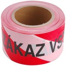 EXTOL CRAFT páska výstražná červeno-bílá, ZÁKAZ VSTUPU, 75mm x 250m 9568