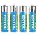 EXTOL ENERGY baterie zink-chloridové, 4ks, 1,5V AAA (LR03) 42000