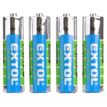 EXTOL ENERGY baterie zink-chloridové, 4ks, 1,5V AA (LR6) 42001