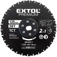 EXTOL PREMIUM kotouč řezný na kov a dřevo 125x20x16mm, 38T, pro 8893020 8893020A