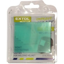 EXTOL PREMIUM sklo ochranné pro svářecí helmu, plastové 8898026A