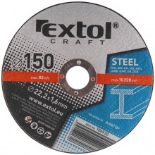 EXTOL CRAFT kotouče 150x1,6x22,2mm, řezné na kov 5ks 106930