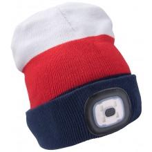 EXTOL LIGHT čepice s čelovkou 45lm, nabíjecí, USB, světle bílá/červená/modrá, univerzální velikost 43450