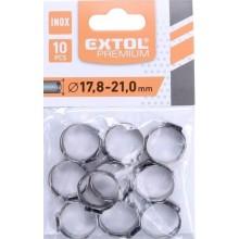 EXTOL PREMIUM INOX spona na hadici 21 mm 8865178