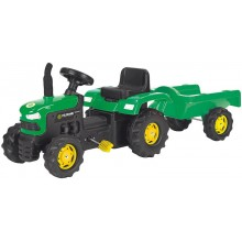 VÝPRODEJ BUDDY TOYS BPT 1012 Šlapací traktor s odpojitelným vozíkem 57000301