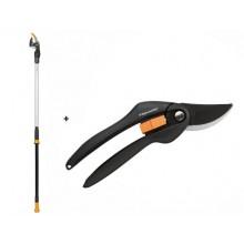 FISKARS Set Nůžky zahradní PowerGear™ X UPX82 + nůžky dvoučepelové P26 1050183