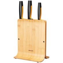 FISKARS Functional Form Bambusový blok se třemi noži 1057553