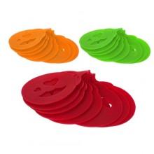 BANQUET CULINARIA Šablony na cappuccino silikonové 8 ks, barva mix 3122250MIX