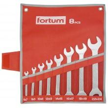 FORTUM klíče ploché, sada 8ks, 6-24mm, 61CrV5 4730104