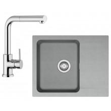 Franke SET T24 (tectonitový dřez šedá OID 611-62 + baterie FN 0147) 114.0425.789