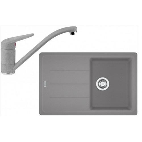 Franke SET G68 granitový dřez BFG 611-78 šedý kámen+baterie FC 9541 šedý kámen 114.0365.189
