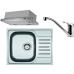 FRANKE SET N46 nerezový dřez PXN 611-60 + baterie FP 250.031 + odsavač FTC 6032 GR/XS 101.0323.784
