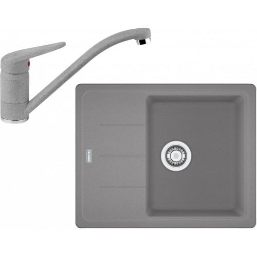 Franke SET G66 granitový dřez BFG 611-62 šedý kámen+baterie FC 9541 šedý kámen 114.0365.148