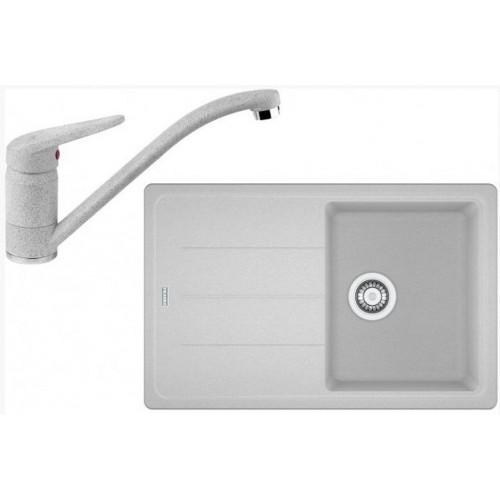 Franke SET G68 granitový dřez BFG 611-78 bílý led +baterie FC 9541 bílá led 114.0365.166