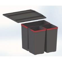 FRANKE Odpadkový koš Sorter EasySort 450-1-2, 1x 14,5 l + 2x 7,5 l 121.0494.150
