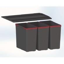 Franke Easysort 600-3-0 (3x14,5 l), odpadkový koš 121.0494.192